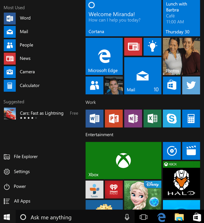 Windows 10 Metro