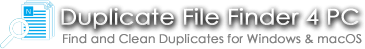Duplicate File Finder 4 PC Site Banner